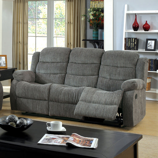 MILLVILLE Gray Sofa w/ 2 Recliners image