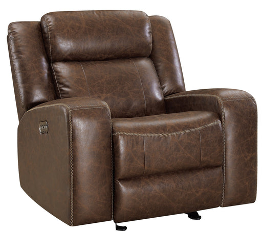 New Classic Furniture Atticus Glider Recliner with Power Headrest and Footrest in Mocha image