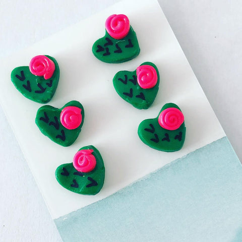 Nopales with Hearts Buttons