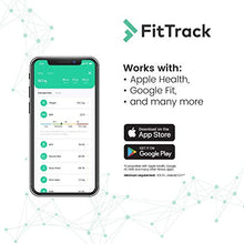 Load image into Gallery viewer, FitTrack Dara Smart BMI Digital Scale - Measure Weight and Body Fat - Most Accurate Bluetooth Glass Bathroom Scale