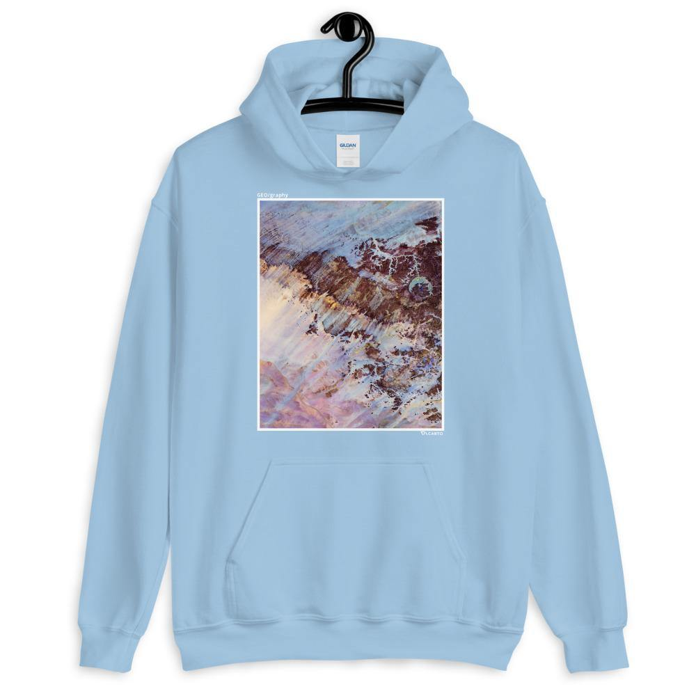 Storm Amid The Calm Hoodie, Light blue, Carto Clothing, Geography