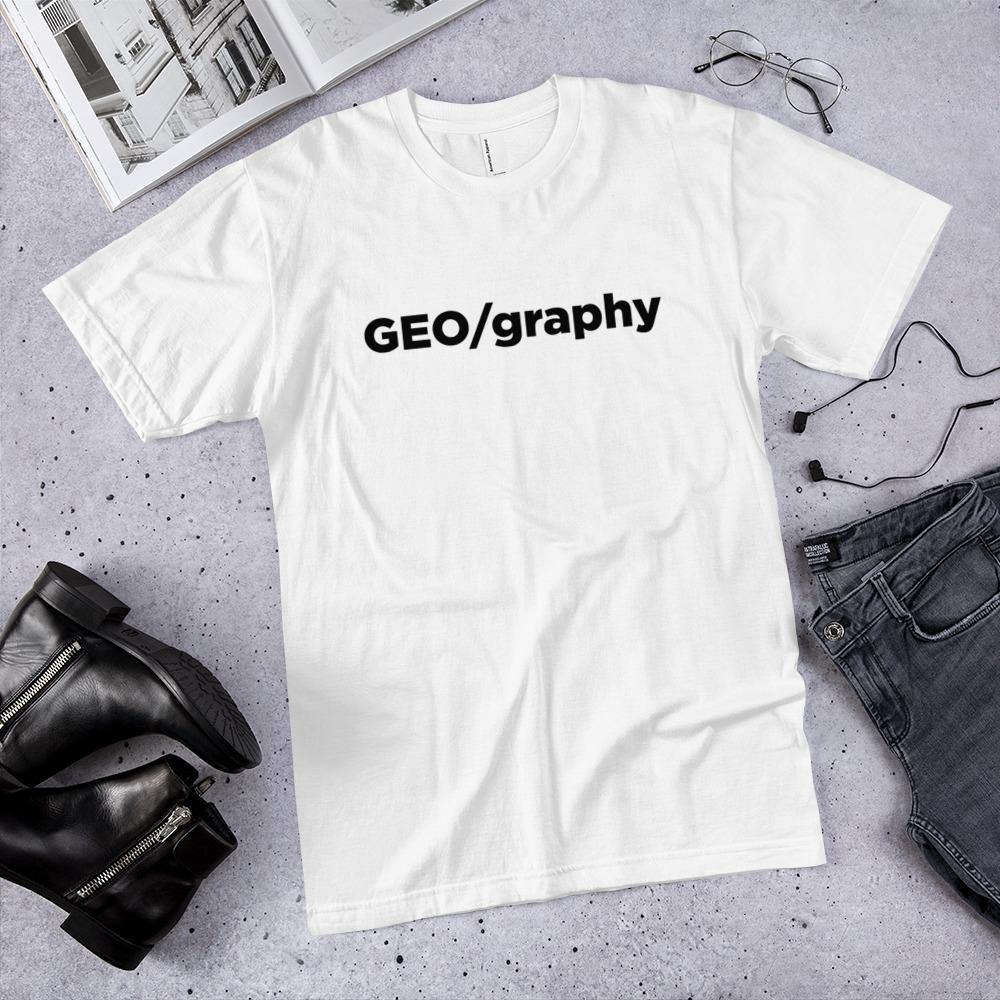 Geography T-shirt, White, Carto Clothing, Geography Collection