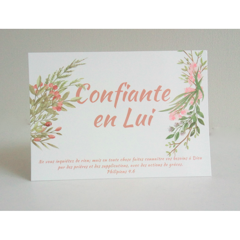 Carte Confiante en Lui - Collection en Lui