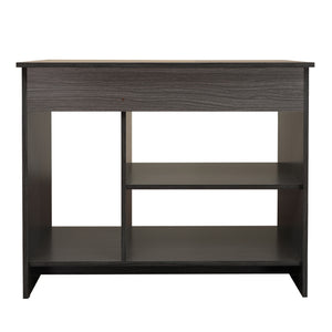 Quatro-2 Engineered Wood Study Desk - Rose Wood Lava