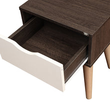 Load image into Gallery viewer, Artigo Engineered Wood Bedside Table - Dark Brown & White