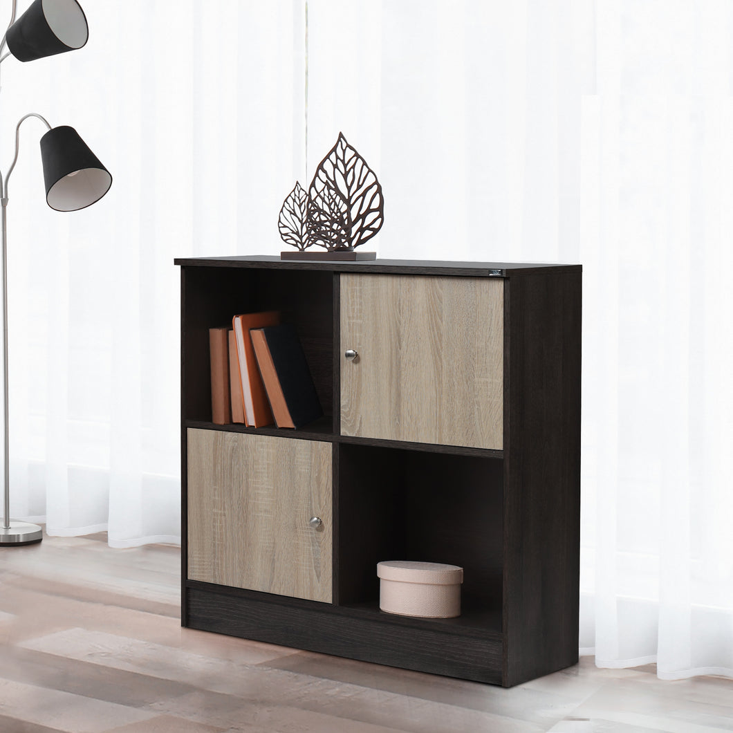 Duet Book Shelf in Charcoal Oak & Sonoma Oak Colour