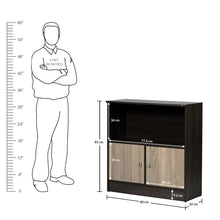 Load image into Gallery viewer, Duet Book Shelf in Charcoal Oak & Sonoma Oak Colour