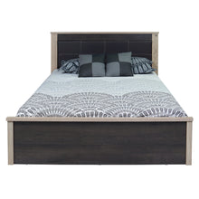 Load image into Gallery viewer, Laurel Queen Size Bed with Storage In Charcoal & Sonoma Oak Colour