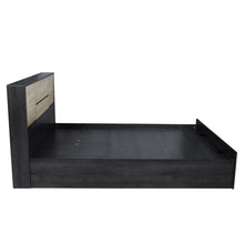 Load image into Gallery viewer, Vinicio King Size Bed with Storage In Charcoal & Sonoma Oak Colour