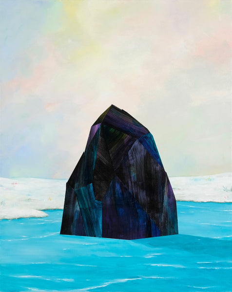 Black Iceberg - Painting