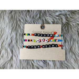 Beaded message bracelets