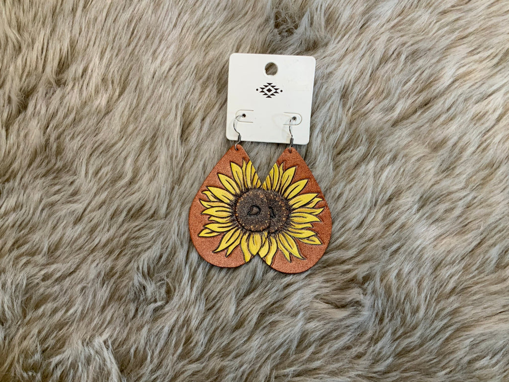 Leather sunflowers