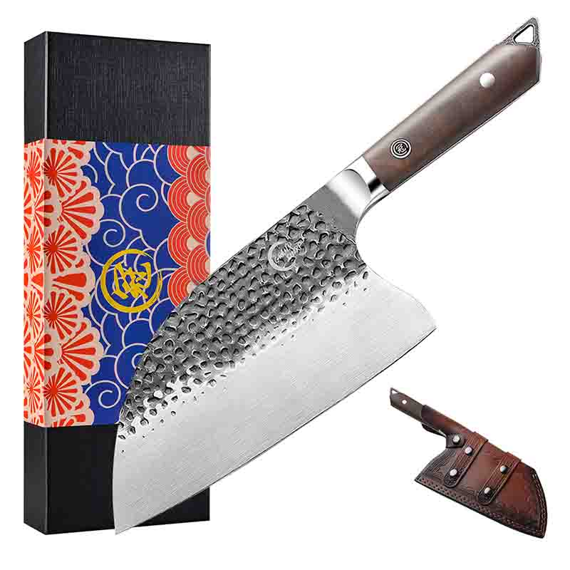 Grandsharp Handmade Forged 5cr15mov Steel Kitchen Knife 8 Inch Cleaver Knife Professional Butcher Knife Chef Knife Chopping Knives