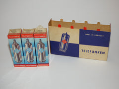TELEFUNKEN ECL82 6BM8 NOS NEW IN BOX, SET OF 3, FACTORY SEALED CELLOPHANE