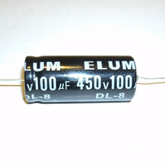 100uf@450V electrolytic capacitor, axial leads