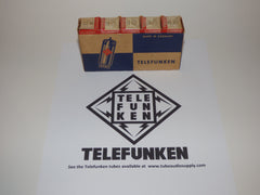 TELEFUNKEN EZ80 6V4 NOS NEW IN BOX SLEEVE OF 5, FACTORY SEALED CELLOPHANE LOT #2