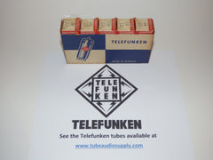 TELEFUNKEN EZ80 6V4 NOS NEW IN BOX SLEEVE OF 5, FACTORY SEALED CELLOPHANE LOT #1