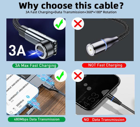 Zuringa magnetic Charging & Data Cable