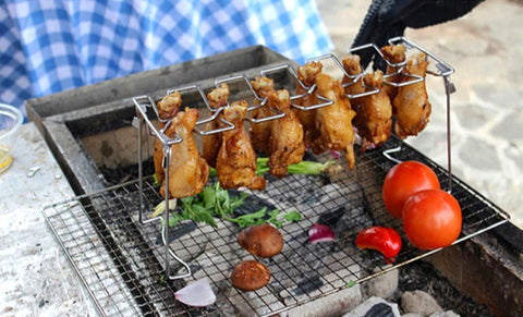 Stainless Steel High Quality BBQ Chicken Leg Wing Rack.