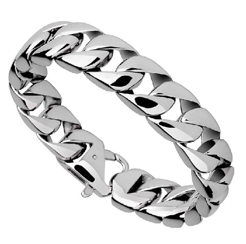 Zuringa Men's Highly Polished Stainless Steel Wristband