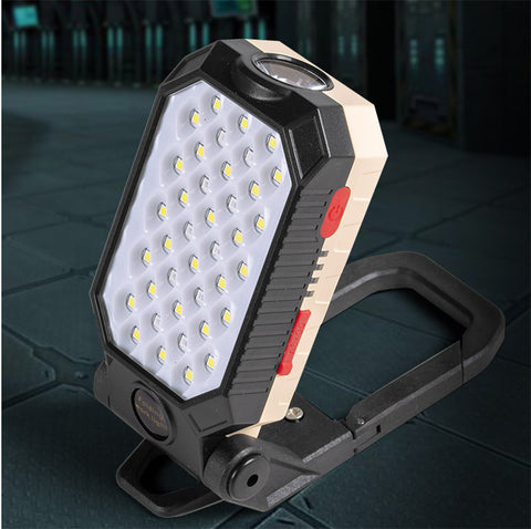 Rechargeable magnetic/hanging/standing light.