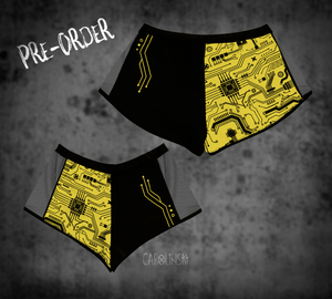 Open image in slideshow, PRE-ORDER Split Shorts - Circuitboard