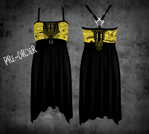 Open image in slideshow, PRE-ORDER Crossback Dress - Circuitboard