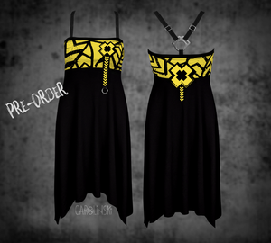 Open image in slideshow, PRE-ORDER Crossback Dress - Grunge