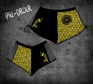 Open image in slideshow, PRE-ORDER Split Shorts - Hexagon
