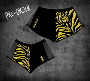 Open image in slideshow, PRE-ORDER Split Shorts - Zebra