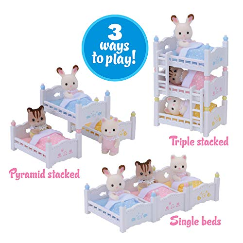 Calico Critters Triple Baby Bunk Beds Toyscentral Israel
