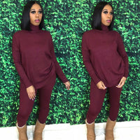 Sweater Weather Set | Burgundy