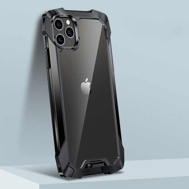 Funda hybrid Simple Metal Bumper para iPhone