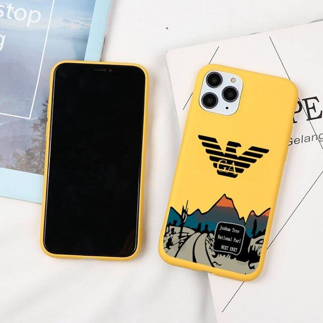 Armani-yellow case for iPhone