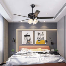 "Load image into Gallery viewer, 52"" Lorinda 5 - Blade Standard Ceiling Fan with Light Kit Included"
