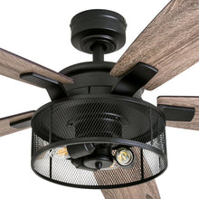 "Load image into Gallery viewer, 52"" Divisadero 5 - Blade Standard Ceiling Fan with Remote Control and Light Kit Included"