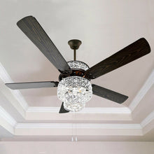 "Load image into Gallery viewer, 52"" Shumake 5 - Blade Ceiling Fan with Light Kit Included"