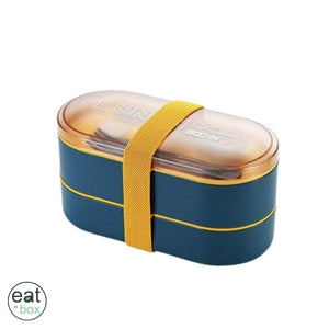 Bento Lunch Box Double Couche Bleu - Bento