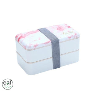 Bento Lunch Box Originale Marbre Rose