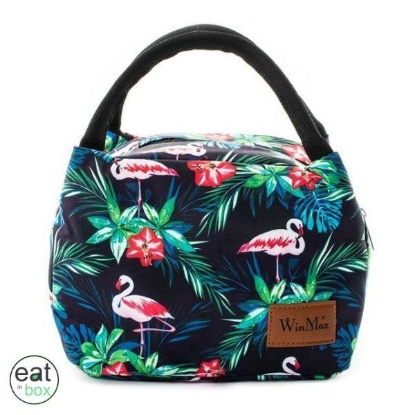 Lunch Bag Isotherme Flamant Rose