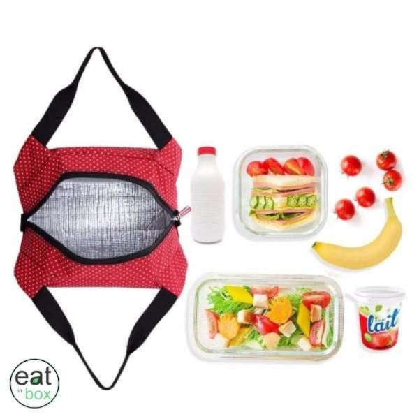 Lunch Bag Isotherme Rouge a Pois