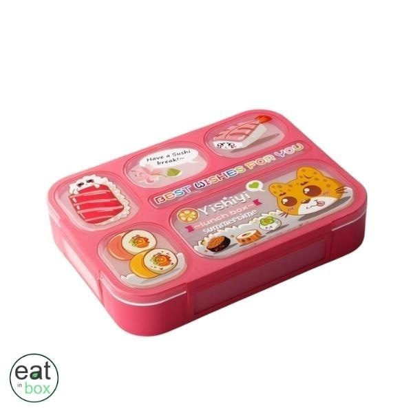 Lunch Box Compartimentée Enfant Rose