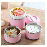 Lunch Box Isotherme Inox Tiffin Indienne Rose