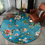 Flower And Bird Printed Rug