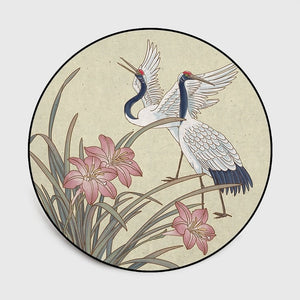 Asian Flower Bird Rug