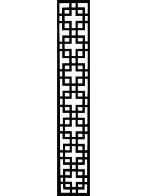 Black designer composite art deco design Cubed garden trellis by Screen With Envy