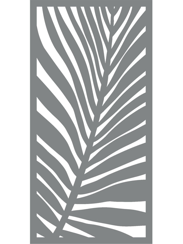 Frond Large Garden Screen - Creme - 6ft x 3ft