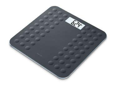 Beurer GS300 Glass  Bathroom Scale in Black - Small Appliances - GardeniaHomecentre
