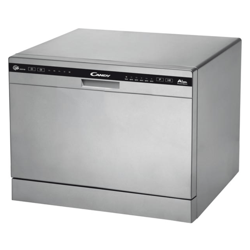 Candy TableTop Dishwasher 6 Placings Stainless Steel CDCP6/E-S - Dishwashers - GardeniaHomecentre