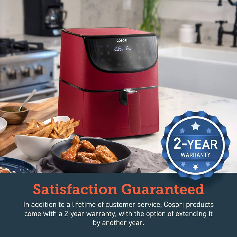 Cosori 5.5Ltr Premium Air Fryer CP158 Red - Air Fryers - GardeniaHomecentre